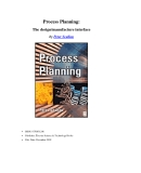 Process Planning Episode 1