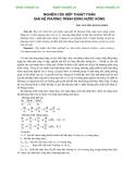Nghiên cứu một thuật toán giải hệ phương trình sóng nước nông