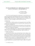 ỨNG DỤNG MÔ HÌNH THUỶ LỰC 2 CHIỀU TRONG QUY HOẠCH QUẢN LÝ VÙNG NGẬP LŨ - GIẢM NHẸ THIÊN TAI