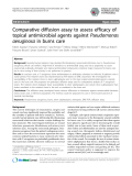 "Báo cáo sinh học: ""Comparative diffusion assay to assess efficacy of topical antimicrobial agents against Pseudomonas aeruginosa in burns care"""