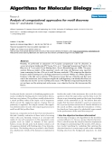 """Báo cáo sinh học: """"Analysis of computational approaches for motif discover"""""""