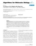 "Báo cáo sinh học: ""Consistency of the Neighbor-Net Algorithm"""