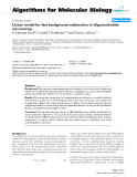 """Báo cáo sinh học: """"Linear model for fast background subtraction in oligonucleotide microarrays"""""""