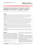 """Báo cáo sinh học: """"Estimating the evidence of selection and the reliability of inference in unigenic evolution"""""""