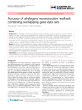 "Báo cáo sinh học: ""Accuracy of phylogeny reconstruction methods combining overlapping gene data sets"""