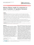 """Báo cáo sinh học: """"Mimosa: Mixture model of co-expression to detect modulators of regulatory interaction"""""""