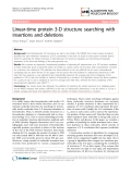 """Báo cáo sinh học: """" Linear-time protein 3-D structure searching with insertions and deletions"""""""