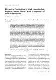 """Báo cáo khoa học: """" Electrolyte Composition of Mink (Mustela vison) Erythrocytes and Active Cation Transporters of the Cell Membrane"""""""