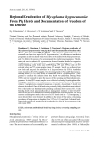 "Báo cáo khoa học: ""Regional Eradication of Mycoplasma hyopneumoniae From Pig Herds and Documentation of Freedom of the Disease"""