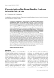 """Báo cáo khoa học: """"Characterisation of the Repeat Breeding Syndrome in Swedish Dairy Cattle"""""""