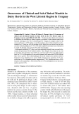 """Báo cáo khoa học: """"Occurrence of Clinical and Sub-Clinical Mastitis in Dairy Herds in the West Littoral Region in Uruguay"""""""