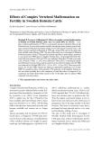 "Báo cáo khoa học: ""Effects of Complex Vertebral Malformation on Fertility in Swedish Holstein Cattle"""