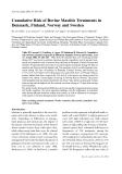 "Báo cáo khoa học: ""Cumulative Risk of Bovine Mastitis Treatments in Denmark, Finland, Norway and Sweden"""