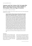 """Báo cáo khoa học: """"Lameness and Claw Lesions of the Norwegian Red Dairy Cattle Housed in Free Stalls in Relation to Environment, Parity and Stage of Lactation"""""""