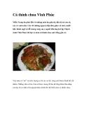 Cá thính chua Vĩnh PhúcMiền Trung du phía Bắc có những món ăn giản dị, dân dã