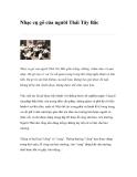 Nhạc cụ gõ của người Thái Tây Bắc