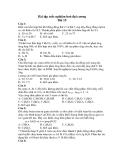 Bài tập trắc nghiệm hoá đại cương Bài 15