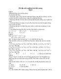 Bài tập trắc nghiệm hoá đại cương Bài 8