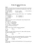 Bài tập trắc nghiệm hoá đại cương Bài 23