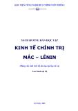 Kinh tế chính trị bài tập - Nguyễn Quang Hạnh - 1