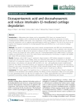 "Báo cáo y học: ""Eicosapentaenoic acid and docosahexaenoic acid reduce interleukin-1b-mediated cartilage degradation"""