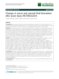 "Báo cáo y học: ""Changes in serum and synovial fluid biomarkers after acute injury (NCT00332254)"""