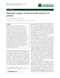 "Báo cáo y học: ""Molecular targets of natural health products in arthritis"""