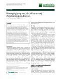 Managing pregnancy in inflammatory rheumatological diseases