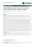 "Báo cáo y học: ""Autoantibodies predate the onset of systemic lupus erythematosus in northern Sweden"""