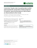 """Báo cáo y học: """"Correction: Steady-state mycophenolate mofetil pharmacokinetic parameters enable prediction of systemic lupus erythematosus clinical flares: an observational cohort study"""""""