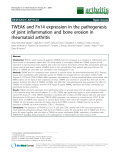 "Báo cáo y học: ""TWEAK and Fn14 expression in the pathogenesis of joint inflammation and bone erosion in rheumatoid arthritis"""