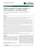 """Báo cáo y học: """" Soluble interleukin-18 receptor complex is a novel biomarker in rheumatoid arthritis"""""""