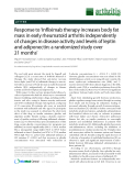 """Báo cáo y học: """"Response to 'Infliximab therapy increases body fat mass in early rheumatoid arthritis independently of changes in disease activity and levels of leptin and adiponectin: a randomized study over 21 months'"""""""