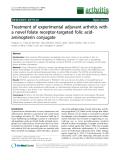 "Báo cáo y học: ""Treatment of experimental adjuvant arthritis with a novel folate receptor-targeted folic acidaminopterin conjugate"""