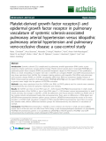 """Báo cáo y học: """"Platelet-derived growth factor receptor-b and epidermal growth factor receptor in pulmonary vasculature of systemic sclerosis-associated pulmonary arterial hypertension versus idiopathic pulmonary arterial hypertension and pulmonary veno-occlusive disease: a case-control study"""""""