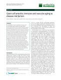 "Báo cáo y học: "" Giant cell arteritis: immune and vascular aging as disease risk factors"""