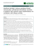 "Báo cáo y học: ""Interferon-lambda1 induces peripheral blood mononuclear cell-derived chemokines secretion in patients with systemic lupus erythematosus: its correlation with disease activity"""