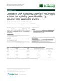 "Báo cáo y học: ""Correction: DNA microarray analysis of rheumatoid arthritis susceptibility genes identified by genome-wide association studies"""
