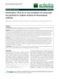 "Báo cáo y học: ""Interleukin-18 as an in vivo mediator of monocyte recruitment in rodent models of rheumatoid arthritis"""