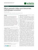 "Báo cáo y học: ""Efficacy assessed in follow-ups of clinical trials: methodological conundrum"""