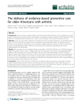"""Báo cáo y học: """"The delivery of evidence-based preventive care for older Americans with arthritis"""""""
