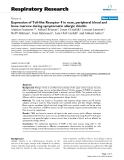 """Báo cáo y học: """"  Expression of Toll-like Receptor 9 in nose, peripheral blood and bone marrow during symptomatic allergic rhinitis"""""""