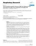 "Báo cáo y học: "" Overcoming beta-agonist tolerance: high dose salbutamol and ipratropium bromide. Two randomised controlled trials"""