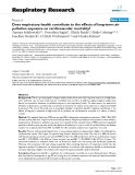 """Báo cáo y học: """"  Does respiratory health contribute to the effects of long-term air pollution exposure on cardiovascular mortality?"""""""