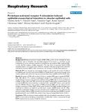 "Báo cáo y học: "" Proteinase-activated receptor 4 stimulation-induced epithelial-mesenchymal transition in alveolar epithelial cells Seijitsu Ando1,2, Hitomi Otani1, Yasuhiro Yagi2, Kenzo Kawai3, Hiromasa Araki3, Shirou Fukuhara2 and Chiyoko """