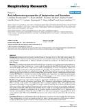 "Báo cáo y học: ""Anti-inflammatory properties of desipramine and fluoxetine"""