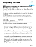 """Báo cáo y học: """"A novel human ex vivo model for the analysis of molecular events during lung cancer chemotherapy"""""""