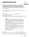 "Báo cáo y học: ""Salmeterol plus fluticasone propionate versus fluticasone propionate plus montelukast: a randomised controlled trial investigating the effects on airway inflammation in asthma"""