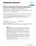 """Báo cáo y học: """" Glucocorticoid receptor gene polymorphisms associated with progression of lung disease in young patients with cystic fibrosis"""""""