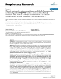 """Báo cáo y học: """" Chronic obstructive pulmonary disease and inhaled steroids alter surfactant protein D (SP-D) levels: a cross-sectional study"""""""